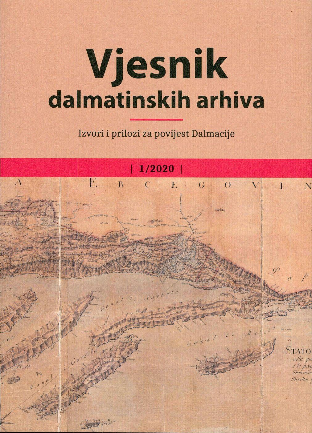 Pogledaj Svezak 1 (2020): Vjesnik dalmatinskih arhiva